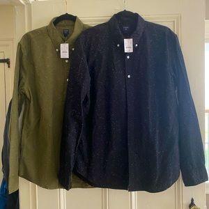 2 JCrew Shirts Size L